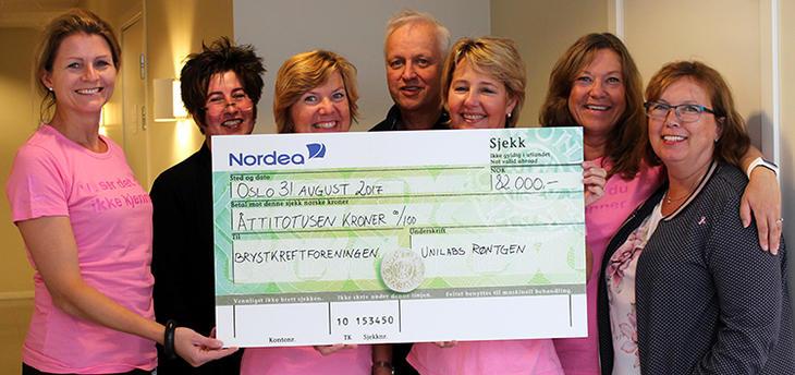 Brystkreftforeningen fikk 82.000 kroner