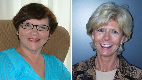 To nye æresmedlemmer i Brystkreftforeningen