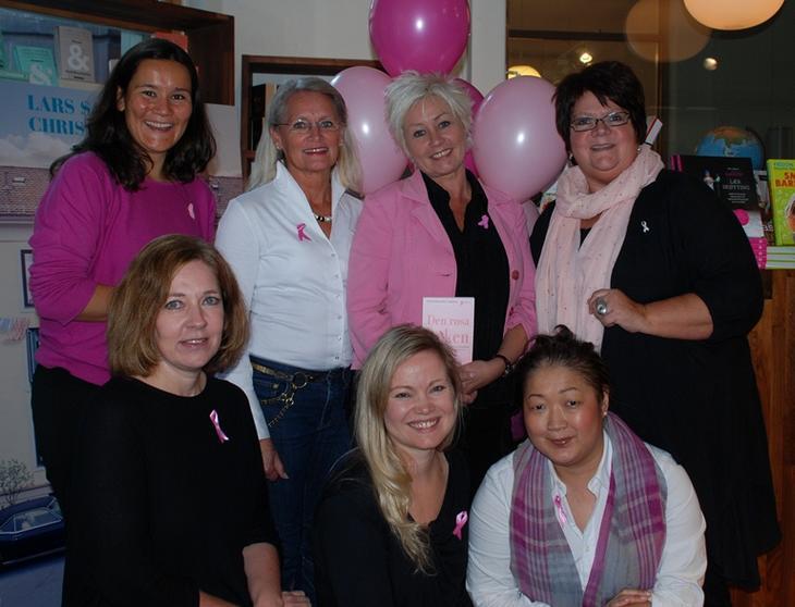 Markerte startskuddet for årets Rosa sløyfe-aksjon med boklansering