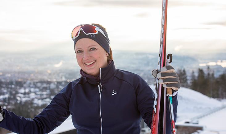 Trine Vennes Kongsvold på ski