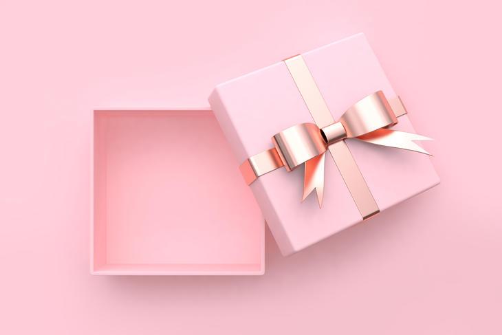 Rosa gaveboks